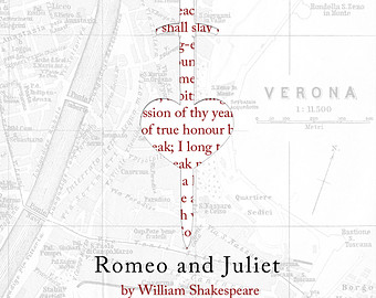 Drawn poster romeo and juliet And Etsy Poster and Juliet