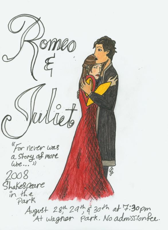 Drawn poster romeo and juliet Concp TheCalmOfChaos and TheCalmOfChaos DeviantArt
