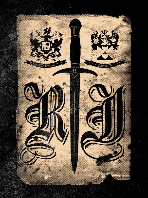 Drawn poster romeo and juliet IamBramer Romeo Juliet DeviantArt Poster