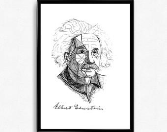 Drawn poster science Science Poster Science Portrait Hand