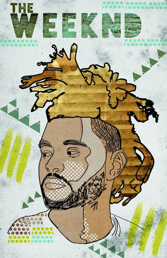 Drawn poster soul music Weeknd Poster of  of