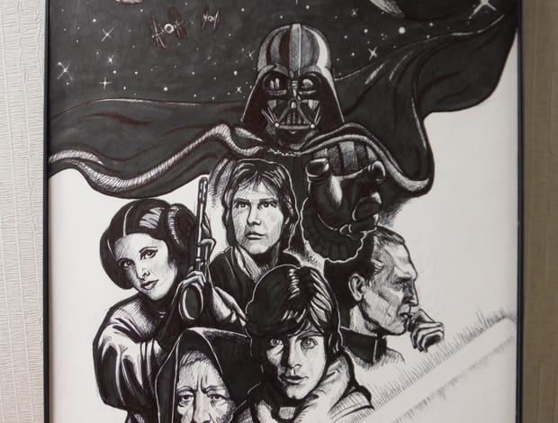 Drawn poster star wars Marker This Wars is Pen