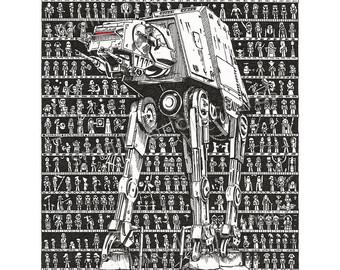 Drawn poster star wars Movie Rogue Art One Star