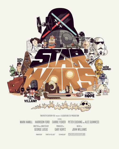 Drawn poster star wars Lynnandtonic Hand Star Wars Posters