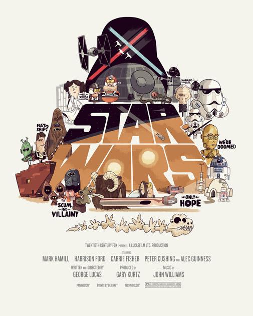 Drawn poster star wars  Hand drawn Posters Wars