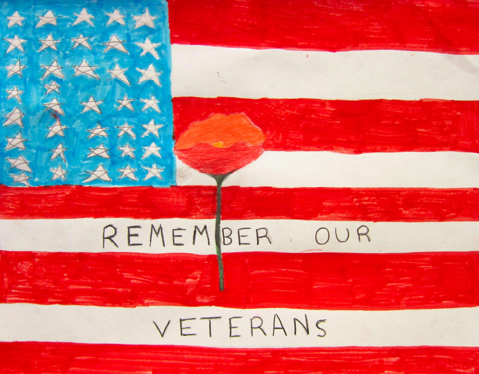 Drawn poster veterans day #2