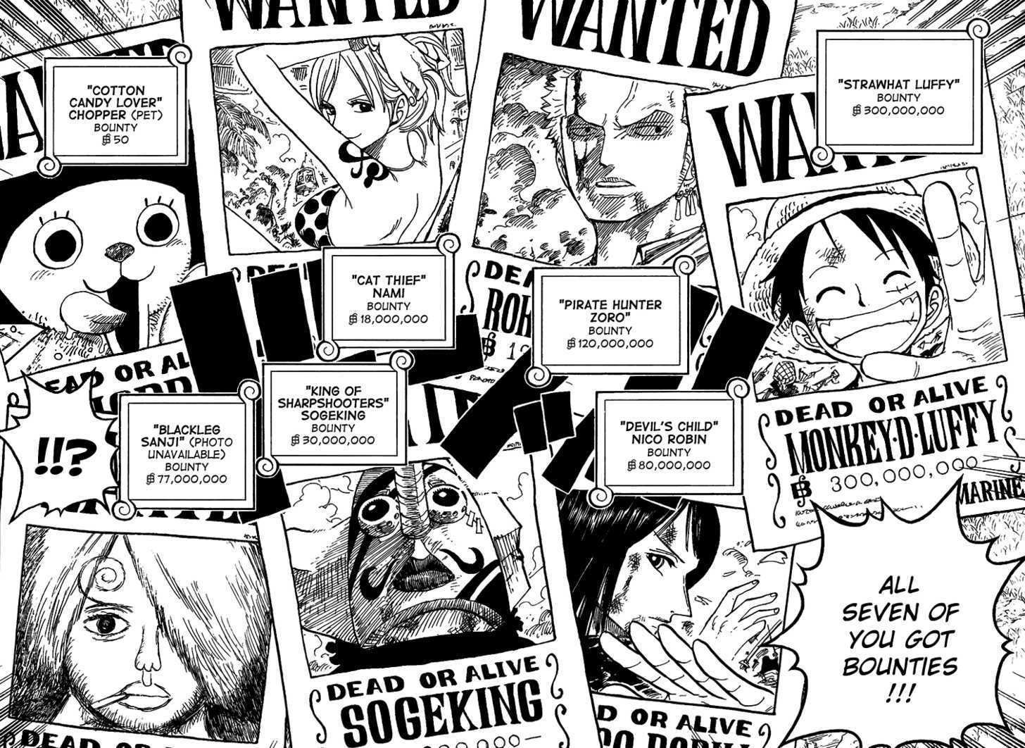 Drawn poster wanted Piece Hat Manga  Sanji's