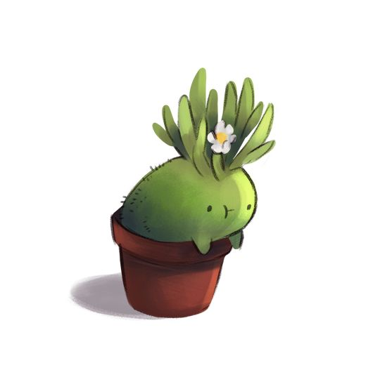 Drawn pot plant character Best Blur on Plant ideas
