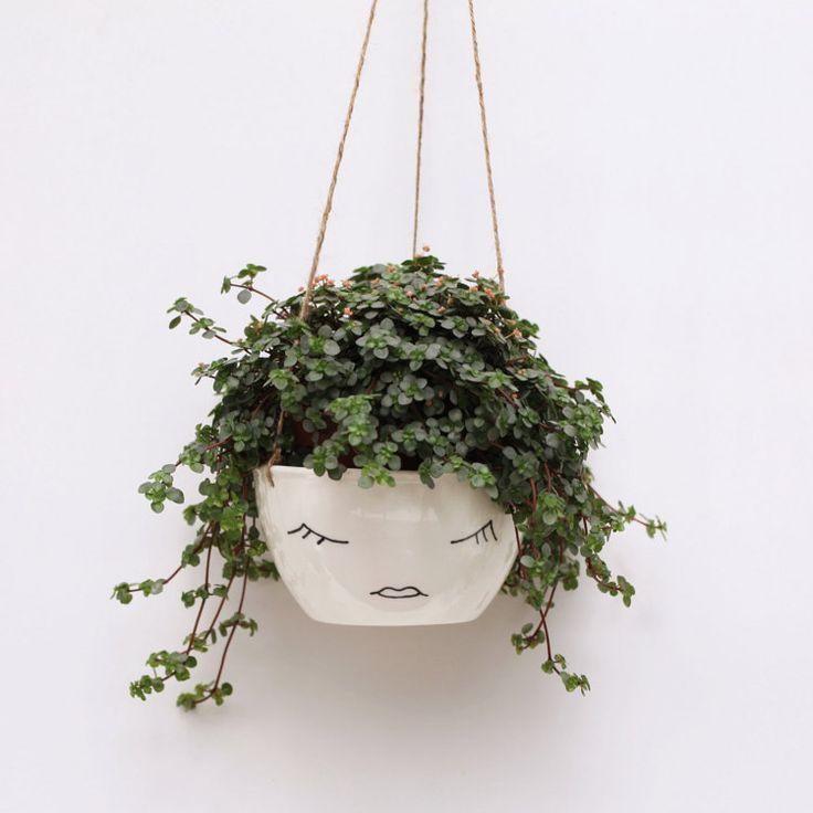 Drawn pot plant character // // Scandinavian Ceramic Pinterest