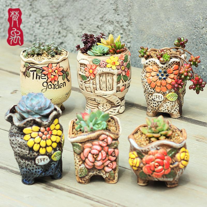 Drawn pot plant creative Wholesale restoring flower China Online