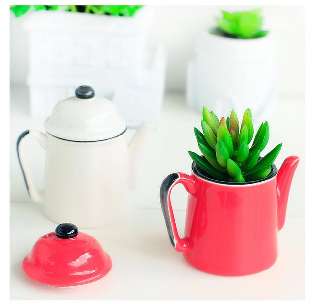 Drawn pot plant creative Creative Ceramic Plant Manual Flower