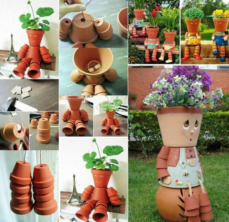 Drawn pot plant creative 25+ Clay  on ideas