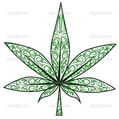 Drawn pot plant leaf stencil Depositphotos_23391596 Cool Weed Weed
