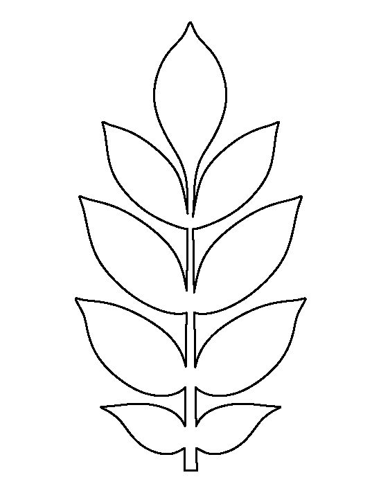 Drawn pot plant leaf template Creating printable patterns on Use