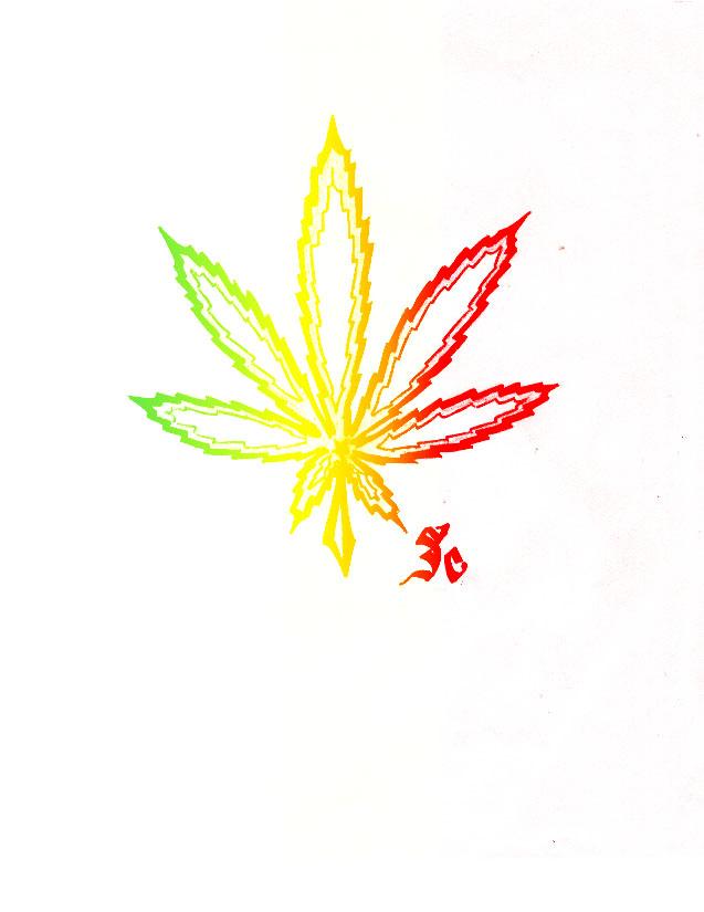 Drawn pot plant rasta Marko443 by on by Weed