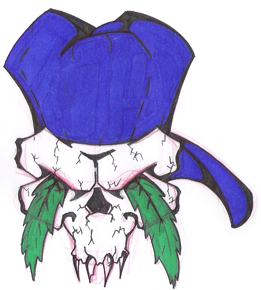 Drawn pot plant skull TheAlkamizt69 by TheAlkamizt69 by on