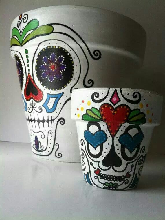 Drawn pot plant skull Garden Pinterest Etsy on Gotta