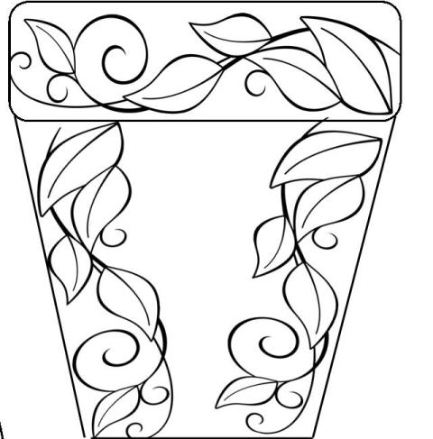 Drawn pot plant the word Has (605 Plants (second flower