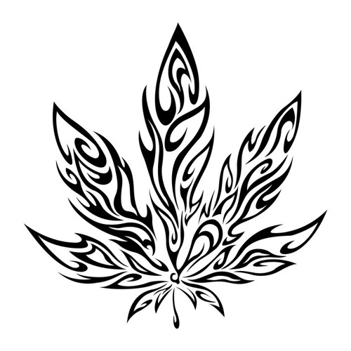 Drawn pot plant tribal Meaning You Ideas Tattoos Weed
