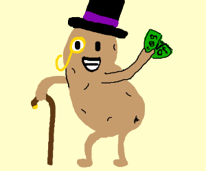 Drawn potato Fancy about tes) gentleman Fancy