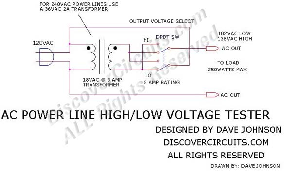 Drawn power line wooden Line #382 Line Circuits High/Low
