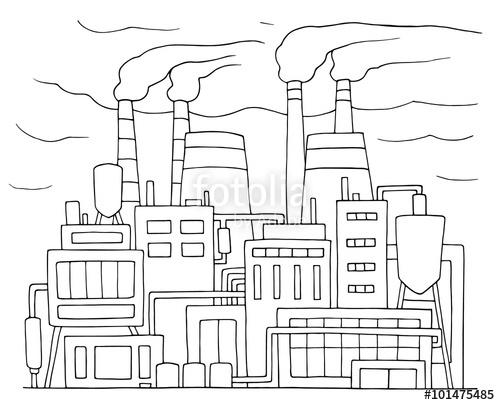 Drawn power line  cartoon pipes sketch Hand
