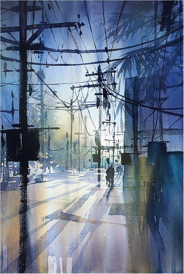 Drawn power line city los angeles Thomas 2016 Angeles Los THOMAS