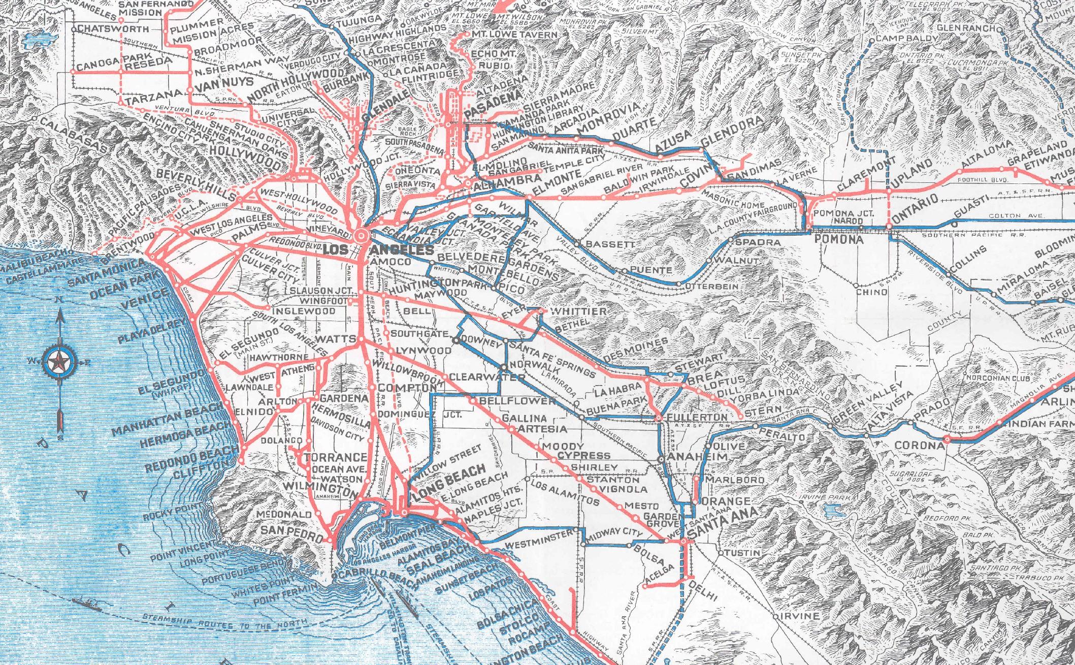 Drawn power line city los angeles Pacific Percent 25 Mileage 01