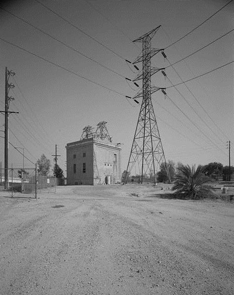 Drawn power line city los angeles Francisquito transmission Water constructed point