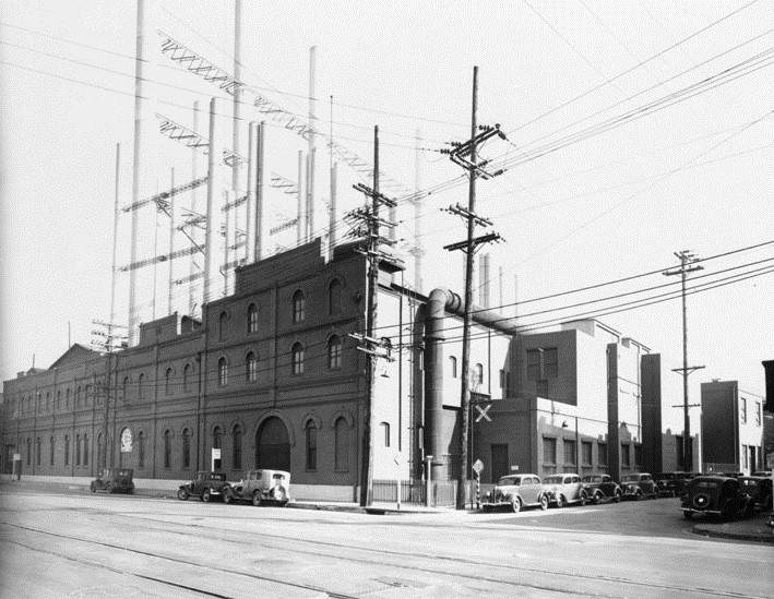 Drawn power line city los angeles And by Water Steam Los