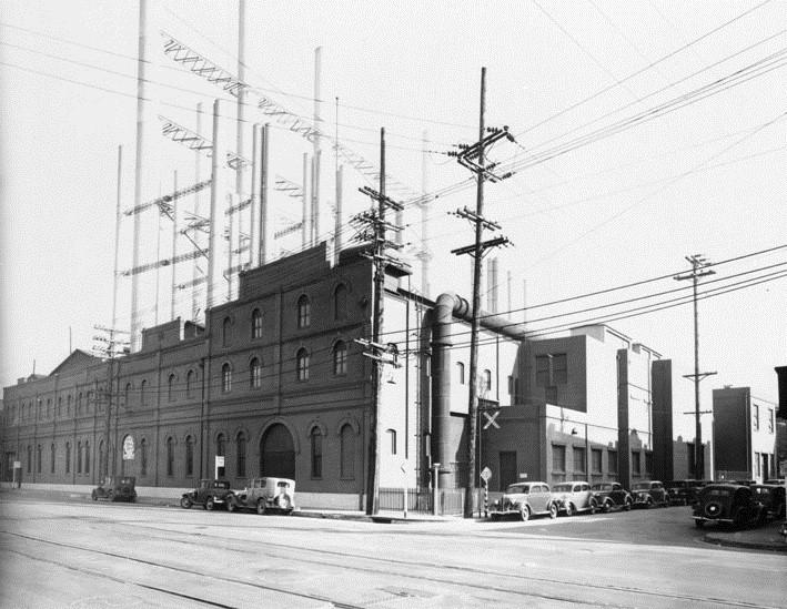 Drawn power line city los angeles Steam Los Alameda Associates the