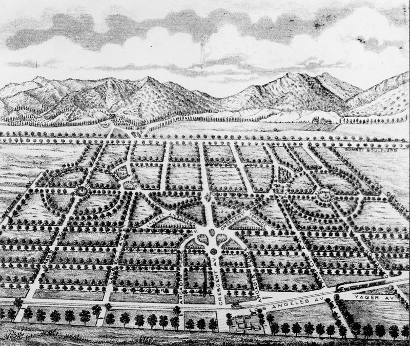 Drawn power line city los angeles 1877 be and an Power