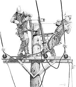 Drawn power line company safety Work on Pinterest at linemen