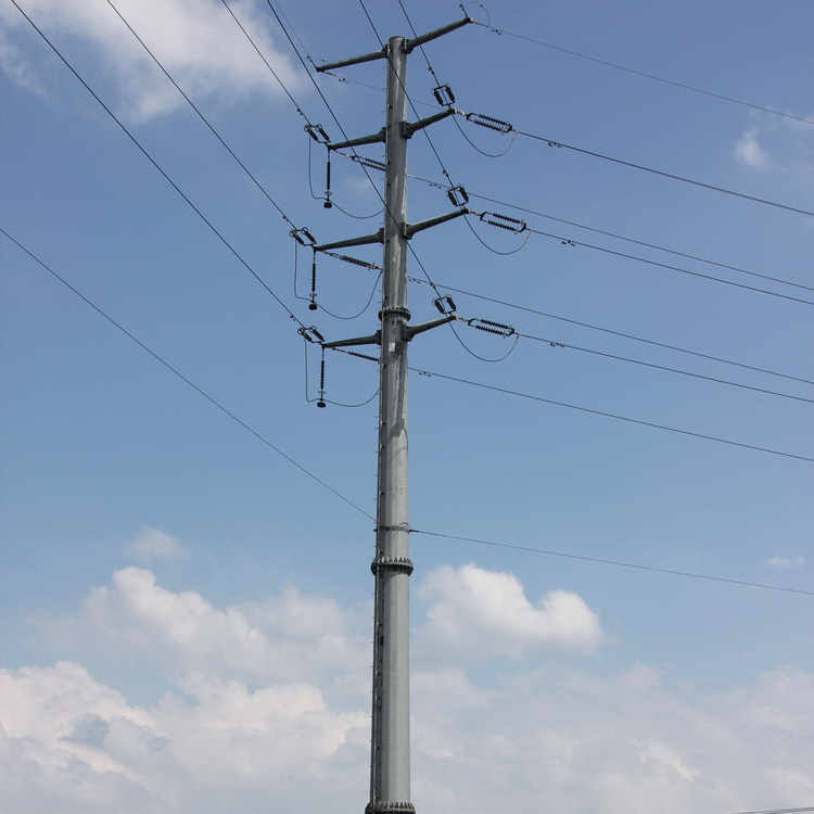 Drawn power line electric pole Steel pole Drawing Competitive Price