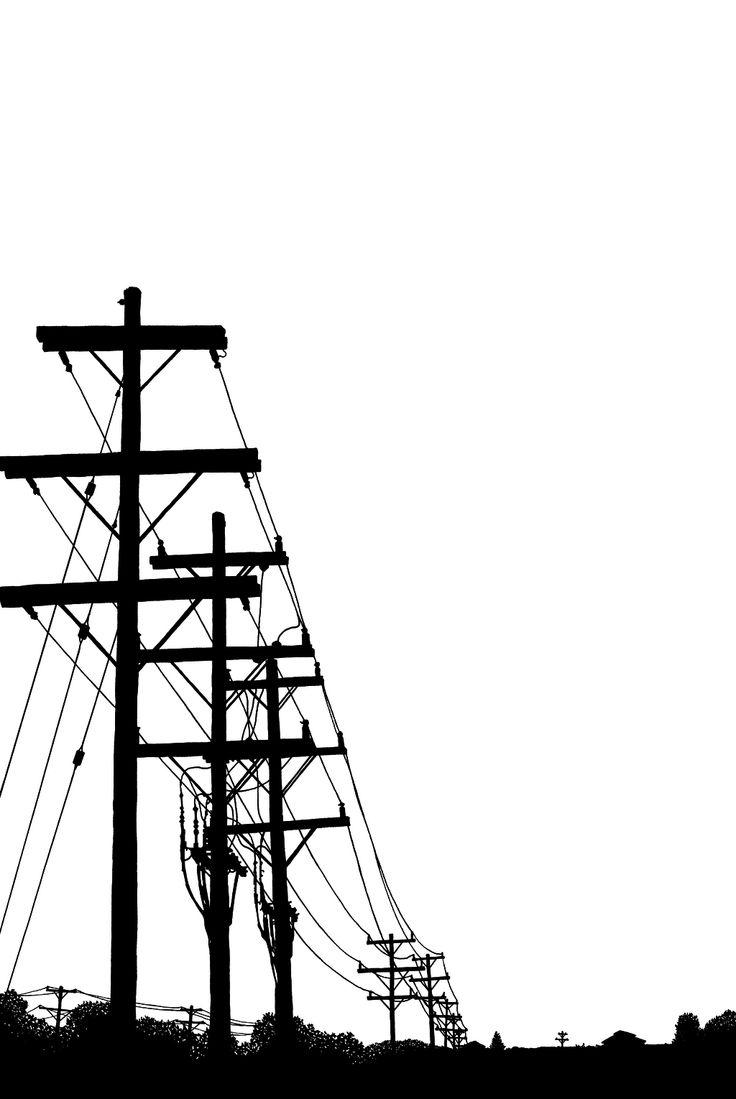 Drawn power line electric tower Pinterest BillyJebens Best PowerLines