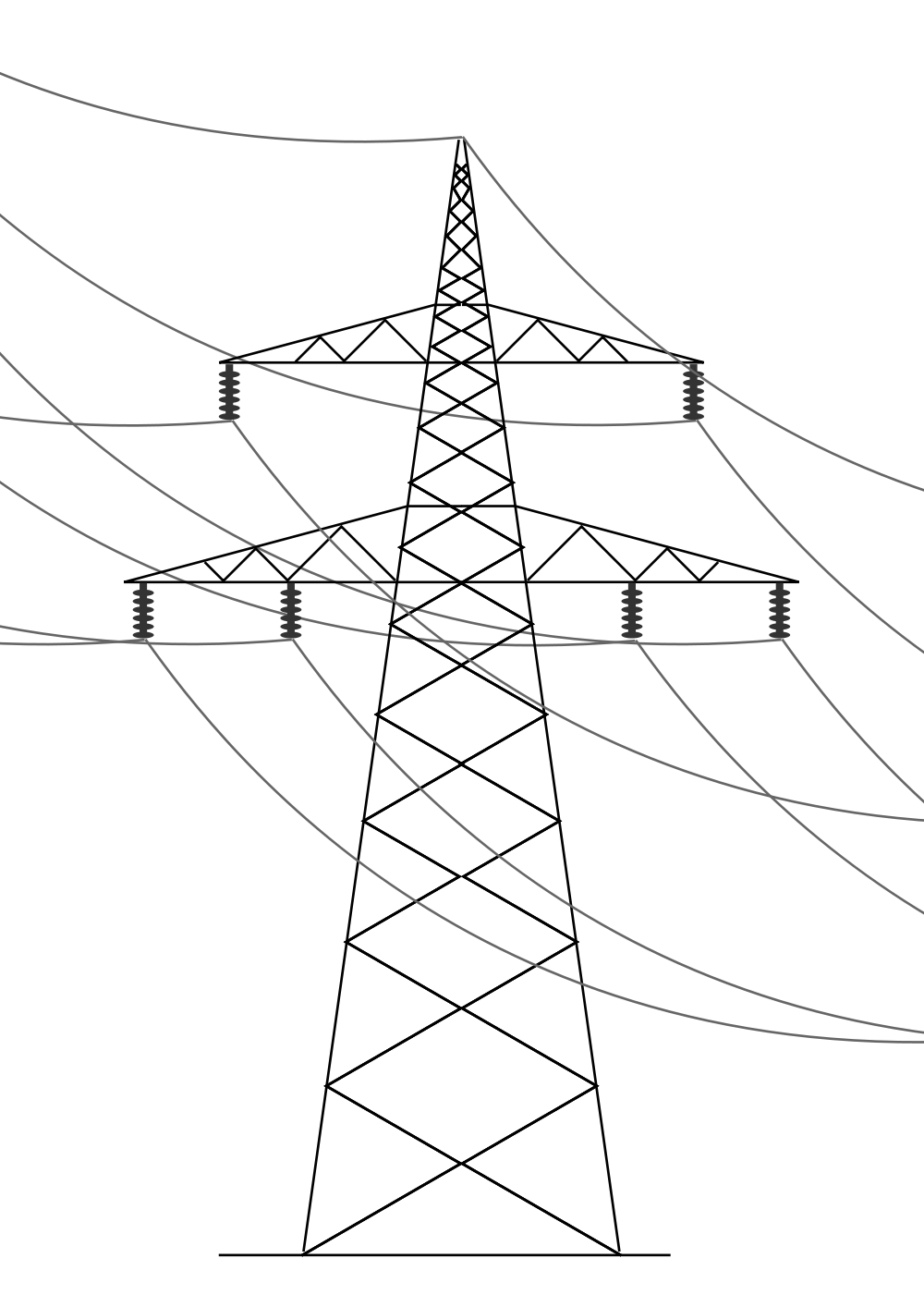Drawn power line electric tower Wikimedia Commons Open line svg