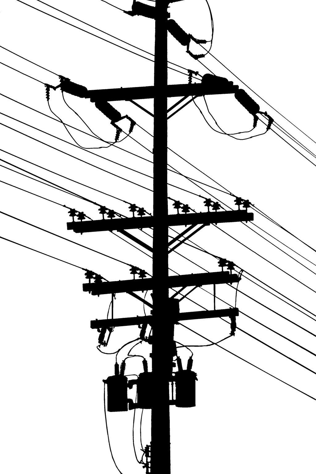 Drawn power line electrical pole Pole karen robert Pole DeviantArt