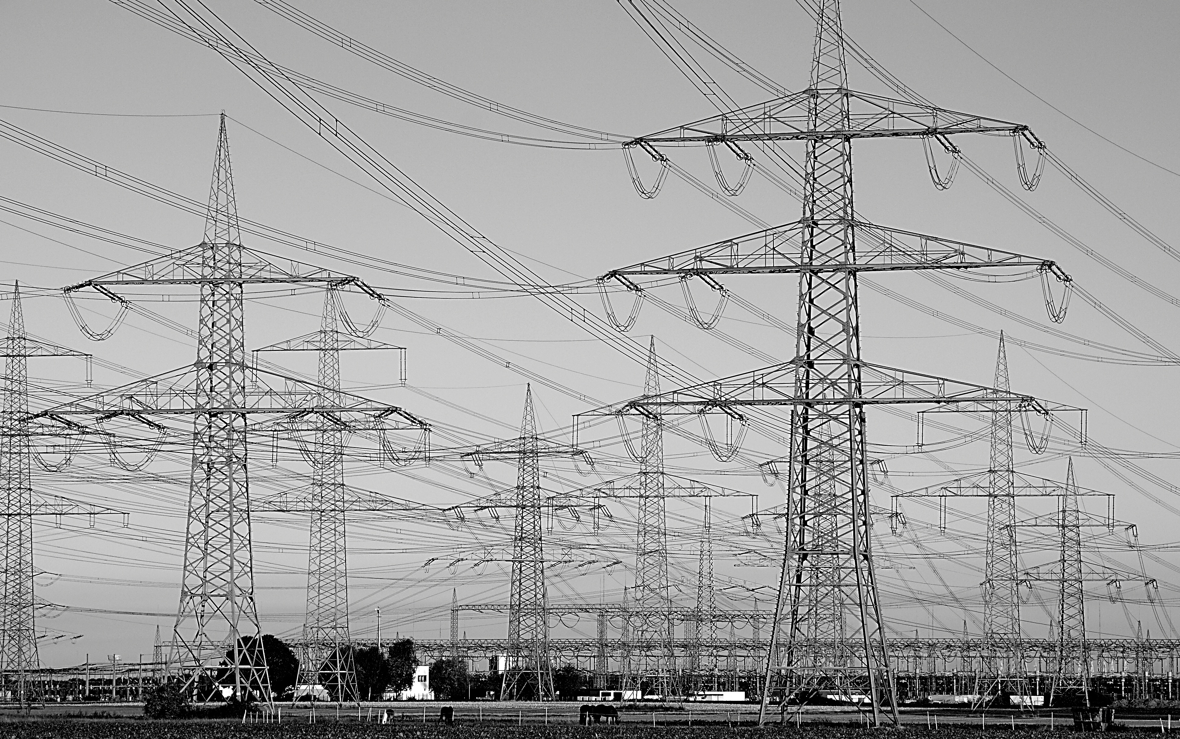Drawn power line electrical pole Electricity supply pylon power Images