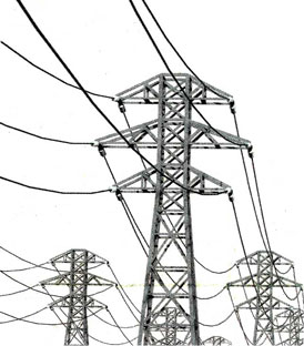 Drawn power line electrical pole Electric 3 What is phase