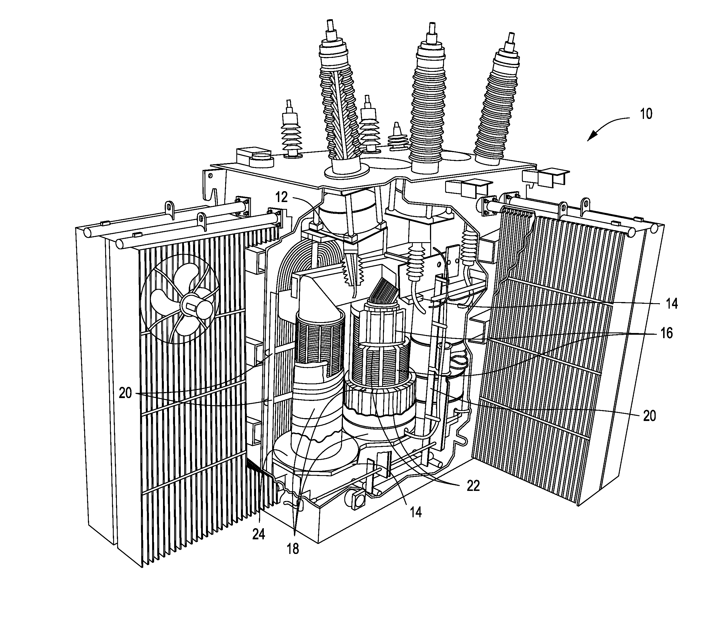 Drawn power line electrical transformer Google for US20120249275 Insulation Drawing
