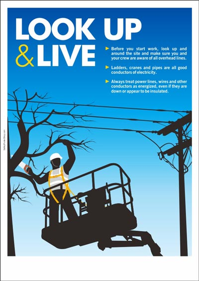 Drawn power line industrial safety Safety safety Electrical and Posters