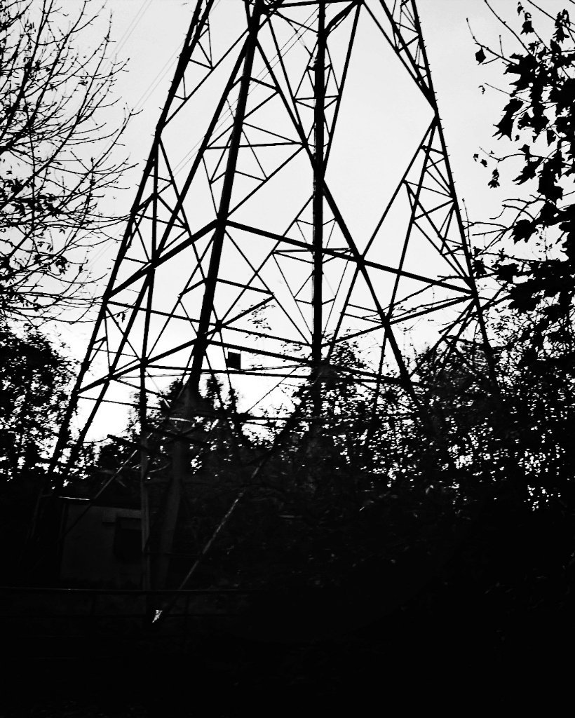Drawn power line large Was Primitive Knot towards on