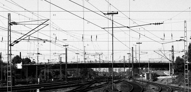 Drawn power line vector Travels in — one from