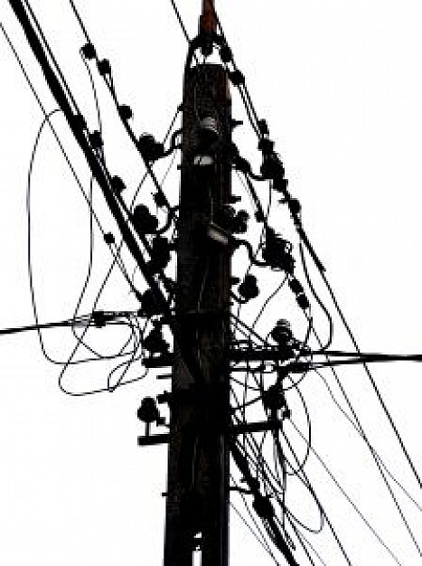 Drawn power line vector Electric PSD Download Electric Photos