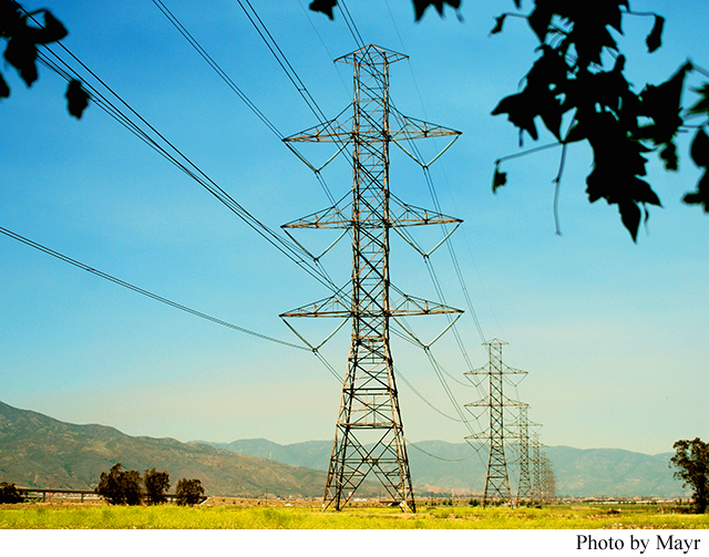 Drawn power line power grid The America's Road CA Article