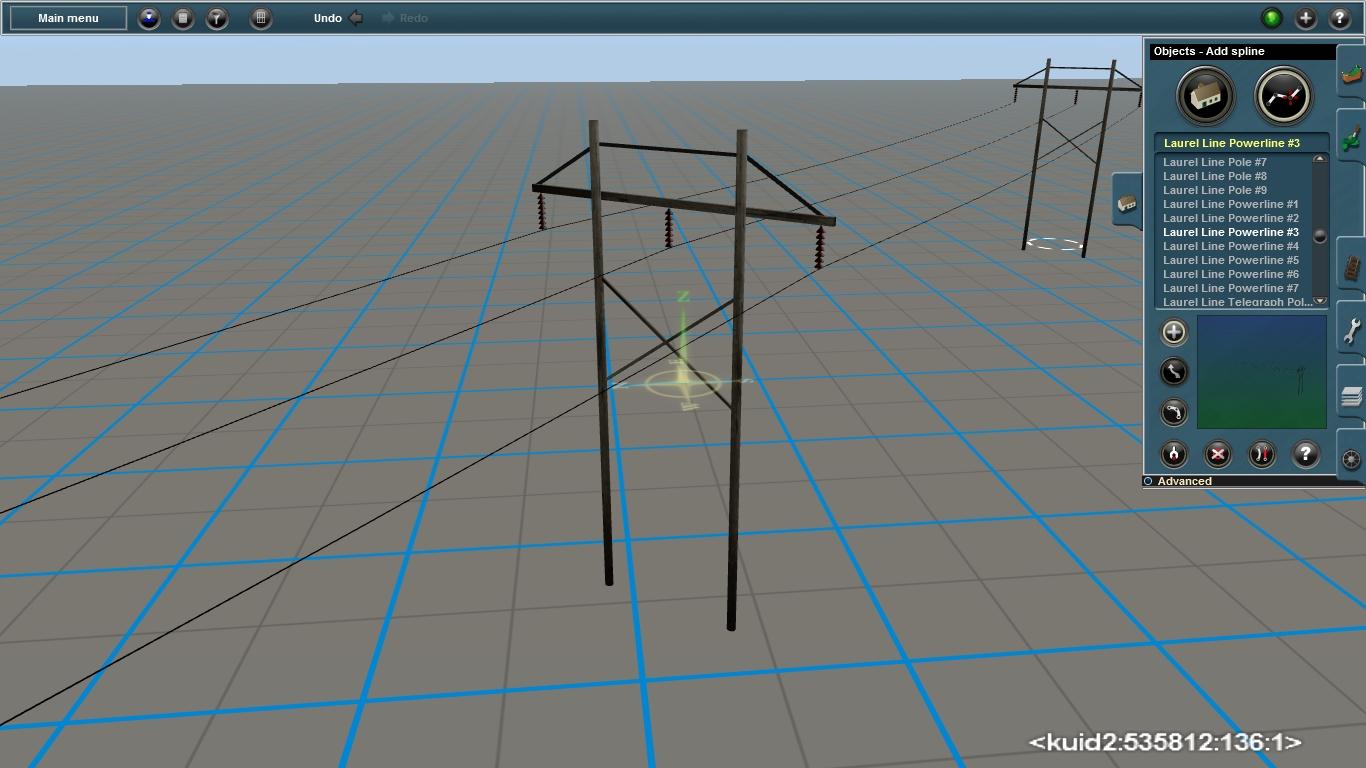 Drawn power line trainz One Powerline the specific