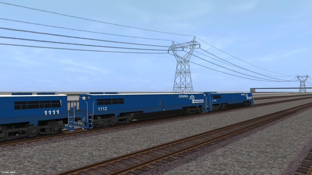 Drawn power line trainz Sub Trainz (Southern Valley Route)