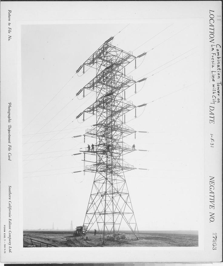 Drawn power line transmission line 46 Fresa Transmission best G