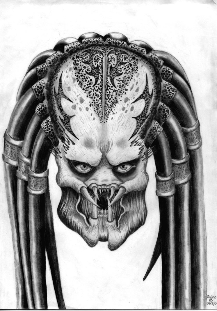 Drawn predator Head Glaiceana by by Predator