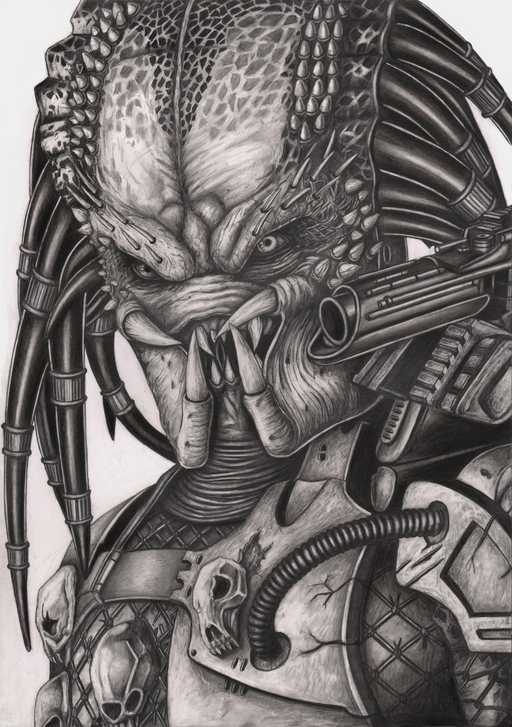 Drawn predator Pen 'Predator' on Artist graphite